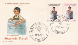 1971 ITALY FDC LIRE CENTOMILA CHILD - F.D.C.