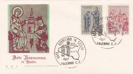 1974 ITALY FDC ARTE NORMANNA IN SICILIA - F.D.C.
