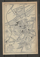 CARTE PLAN 1914 - ALBI - HOTEL De La POSTE - HOTEL Du GRAND St ANTOINE - HOTEL Du VIGAN - HOTEL De FRANCE - Carte Topografiche