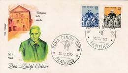1972  ITALY FDC DON LUIGI ORIONE - F.D.C.