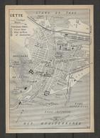 CARTE PLAN 1914 - CETTE - CASINO - BAINS - GRAND HOTEL - HOTEL De PARIS - HOTEL CONTINENTAL - PHARE St CLAIR - Carte Topografiche