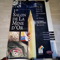 Affiche Du Premier Salon De La Mine D'or, 1997  Premier Salon Des Loisirs Créatfs - Manifesti