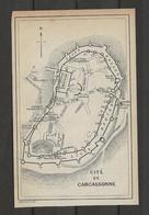 CARTE PLAN 1914 - CITÉ De CARCASSONNE - TOURS - THÉATRE De PLEIN AIR - LICES HAUTES Et BASSES - CHATEAU - Carte Topografiche