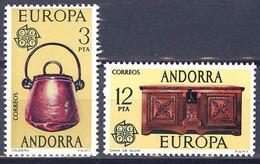 Andorra. 1976. EUROPA Cept. Caldron, Chest And Emblem - Ungebraucht
