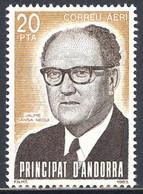 Andorra. 1983. Jaime Sansa Nequi. Episcopal Church Official. Airmail - Ungebraucht