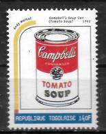 TOGO  N° 1708  * *  Millennium Tableaux  Warhol Soupe En Boite - Altri