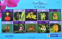 COLOMBIE - ORCHIDEES 2021 - FEUILLET NEUF ** - NOUVEAUTE - Orchidee