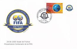 France FDC 2004 FIFA Centenary  (DD31-41) - Storia Postale
