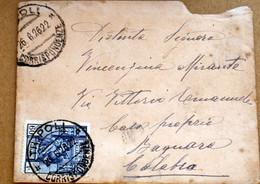 ITALIA COLONIE LIBIA 1926 SIBILLA 60 C SU LETTERA  DA TRIPOLI A BAGNARA - Libia