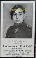 Page Georges-soldat D'élite Au 2ème Régime.mort Pour La Patrie-Deux-Acren / Bavickhove 1940 - Obituary Notices