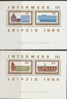 H 668) DDR 1965 Mi# 1126-1129 In Bl. 23,24 **: Briefmarkenausstellung Intermess III In Leipzig (Ansichten Bauwerke) - Esposizioni Filateliche