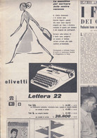 (pagine-pages)PUBBLICITA' OLIVETTI   Oggi1952/28. - Altri
