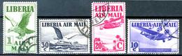 LIBERIA  1938 - Air Mail - 4 Val. Usati / Used - Liberia