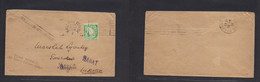 Eire. 1924 (9 Aug) Baile Atra Claith - Rabat, Marruecos (18 Aug) Single Unsealed Fkd 1/2l. Green, Tied Slogan Cachet As - Used Stamps