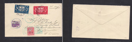 Eire. 1939 (1 March) Baile - LUNDY Island (4 March) Fkd Env + 2 Local Islands Usage On Front. Nice Combination. Most Unu - Used Stamps