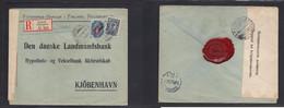 Finland. 1914 (20 Aug) Russian P. Admin Helsinki - Denmark, Cph (27 Aug) Registered Multifkd + Censor Early Label (singl - Ohne Zuordnung