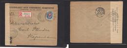 Finland. 1915 (4 March) Russian PA Helsinki - Denmark, Cph (10 March) Registered Single Fkd Censored Env. VF. - Ohne Zuordnung