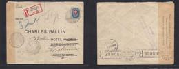 Finland. 1915 (6 Sept) Russian PO Helsinki - Denmark, Cph (11 Sept) Fwded NORWAY. Single Fkd Registered Env, Censored At - Ohne Zuordnung