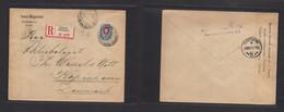 Finland. 1916 (13 Nov) Russian Postal Admin. Helsinki - Denmark, Cph (19 Nov) Registered Single Fkd Env + Censored Trili - Ohne Zuordnung