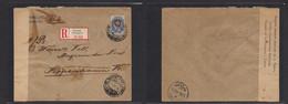 Finland. 1916 (1 Dec) Russian P. Adm Helsinki - Denmark Cph (7 Dec) Registered Single Fkd Censored Envelope. VF. - Ohne Zuordnung