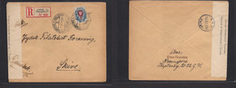 Finland. 1917 (7 Feb) Russian Postal Admin. Helsinki - Skyve, Denmark (14 Feb) Registerd Russian Censor Single Fkd Env. - Ohne Zuordnung
