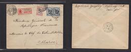 Finland. 1924 (8 Sept) Helsinki - Marruecos, Rabat, French PO (22 Sept) Registered Air Multifkd Env. VF + Rare Dest. - Ohne Zuordnung