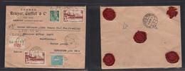 France - Xx. 1939 (13 July) Saintes - Switzerland, Binningen (14 July) Registered Comercial Multifkd Insured For 1,000 F - Unclassified