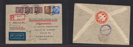 Germany - Xx. 1933 (29 Dec) Berlin - Paraguay, Asuncion (10 Enero 1934) Registered Air Multifkd France. Aeropostale, Mar - Non Classificati