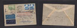 Germany - Xx. 1936 (26 March) Bad Elster - Argentina, Buenos Aires (4 April) Via Air France + Berlin - Paris. Ligne Aero - Non Classificati