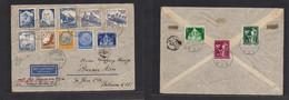 Germany - Xx. 1936 (3 July) Postdam - Argentina, Buenos Aires, Air Multifkd Envelope. Via Air France Sports, Trains + De - Non Classificati