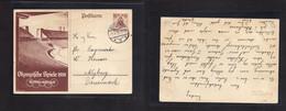 Germany - Stationery. 1936 (11 Aug) Berllin - Nyborg, Denmark. Olympics Ilustrado Stat Card. Fine Used Visitor At The Ga - Non Classificati