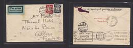 Germany - Danzig. 1935 (3 Sept) GPO - France, Allier (5 Sept) Air Multifkd Env Via Paris (4 Sept) Reverse Transited. - Non Classificati