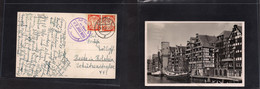 Germany - Danzig. 1938 (7-14 July) GPO - Germany, Holstein, Heide. Multifkd Card 5pf Orange Pair, With Underneath Sea Po - Non Classificati