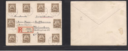 German Col - Carolinas Is.. 1909 (8 Oct) Ponape - Munich, Germany. Registered Multifkd Env At 30 Pf Rate (3pfx10) Tied C - Non Classificati