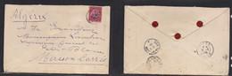 German Col-East Africa. 1905 (5-6 March) Tabora - Argelia, Marison Carre (31 March) Via Dar Es Salaam. Registered Single - Non Classificati