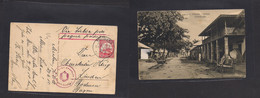 German Col-East Africa. 1915 (27 June) WWI. Muhesa - Bayern, Bodensee, Lindan. Via Lisbon Portuguese Packet Censor Cache - Non Classificati
