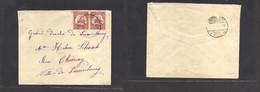 German Col-New Guinea. 1914 (4 May) KIETA - Luxembourg (13 July) Multifkd Comercial Envelope, Fkd 10 Pf Red Ship Horiz P - Non Classificati