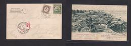 German Colonies-Togo. 1906 (28 July) Anecho - Austria, Tetschen Ad Elbe (30 Aug) Fkd Ppc 5 Pf Green + Taxed + Arrival Au - Non Classificati