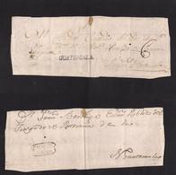 Guatemala. C. 1805. Doble Colonial Front Usage. Guatemala - Antigua + Chiquimula - Nueva Guatemala With Stline Name + Do - Guatemala
