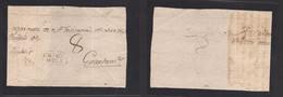 "Guatemala. C. 1805 Chiquimula - Guatemala. Colonial Front, Oval Town Name + Manuscript ""PAGADO"" With Postmaster Signatur - Guatemala"