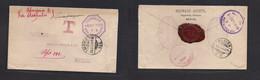 Guatemala. 1896 (2 Sept) MEXICO. Tapachula, Chiapas, Mexico - Mexico, DF (16 Sept). Extraord Multifkd + Taxed Envelope V - Guatemala