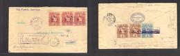 Guatemala. 1899 (12 May) GPO - France, Bordeaux (5 June) Registered AIR Multifkd (front + Reverse Via Puerto Barrios + S - Guatemala