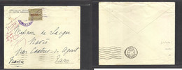 Guatemala. 1938 (Nov) French Consular Mail. GPO - France, Tarn (2 Dec). Fkd Env + Stamps Erased + French Post Office Int - Guatemala