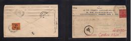 Indochina. 1935 (24 Sept) India - Travinh (11 Nov) Fkd Taxed Comercial Envelope, Arrival Postage Due On Reverse Ovptd 4c - Otros - Asia
