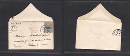 Japan. 1914 (13 Jan) Tokyo - France, Chalon Sur Savoie (29 Jan) Unsealed Small Fkd 10 Sen Blue Envelope, Native Cds + To - Non Classificati