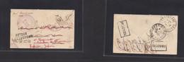 Japan. 1915 (4 Febr) Tokyo - France, Marne (1-14 May) Via America (Apr 20) + Retour To Sender. Fkd Env + (stamp Missing - Non Classificati
