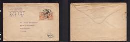 Japan. 1920 (9 April) Otaru, Hokkaido - France, Montpellier. PM Rate Unsealed 1sen (x2) Fkd Env, Tied Cds. - Non Classificati