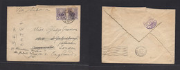 Japan. 1927 (2 Oct) Via Yokohama. Fkd Env At 10 Sen Rate To London, UK (18 Nov) Via Siberia. Fine. - Non Classificati