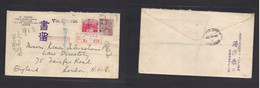 Japan. 1930 (5 May) OSAKA - London, UK (22 May) Registered Multifkd Env At 26 Sen Rate. Via Siberia + Dif Aux Marks + R- - Non Classificati