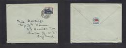 Japan. 1930 (2 Nov) Chichibu Naru / I. J Sea Post - London, UK Single Fkd Pqbot Cancel 10 Sen Blue Rate. Lovely Card Ite - Non Classificati
